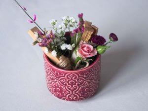 aranjament floral palo santo